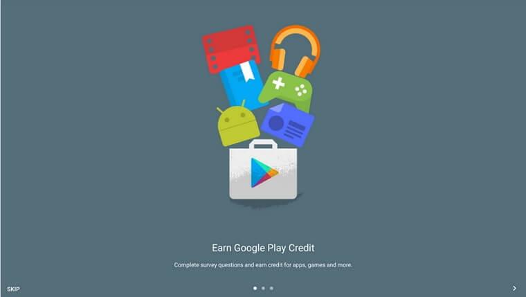 グーグルアンケートモニターに回答してGooglePlayのクレジットが稼げるAndroidスマホアプリ
