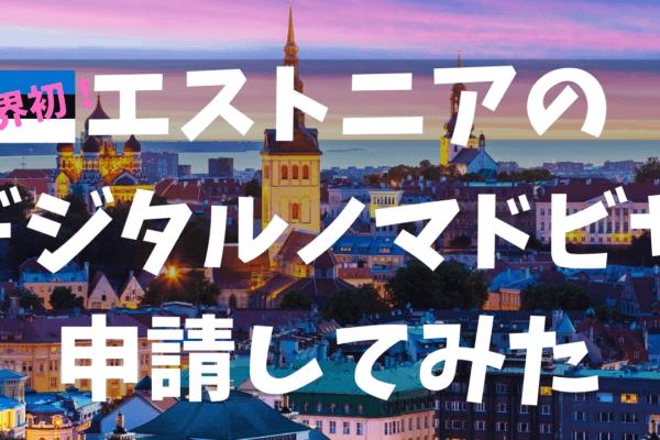 世界初!エストニアで365日滞在可能なデジタルノマドビザを申請してみた!海外旅行や美人好きな方、IT起業家、移住をしたい方にお薦め!
